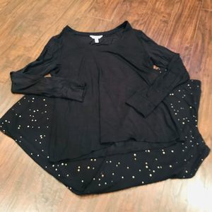 Soma black and gold star pajama set soft stretch